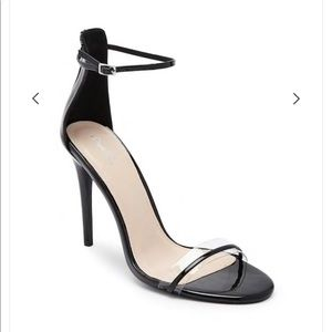 Qupid Stiletto Heels 5.5 Clear Black